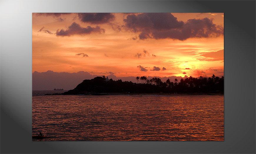 Unser Premium Poster Sri Lanka Sundown