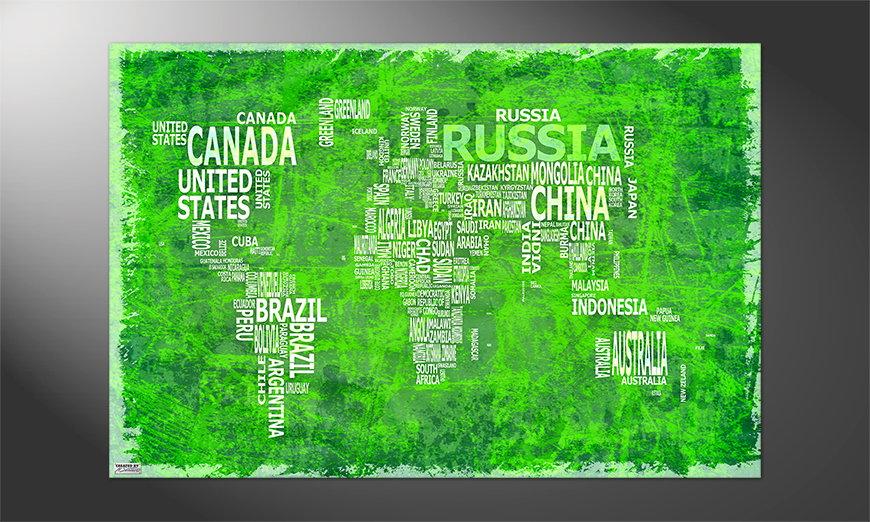 Unser Premium Poster Weltkarte Nr16