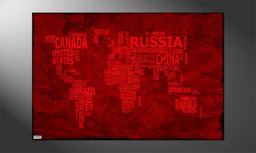 Unser Premium Poster Weltkarte Nr18