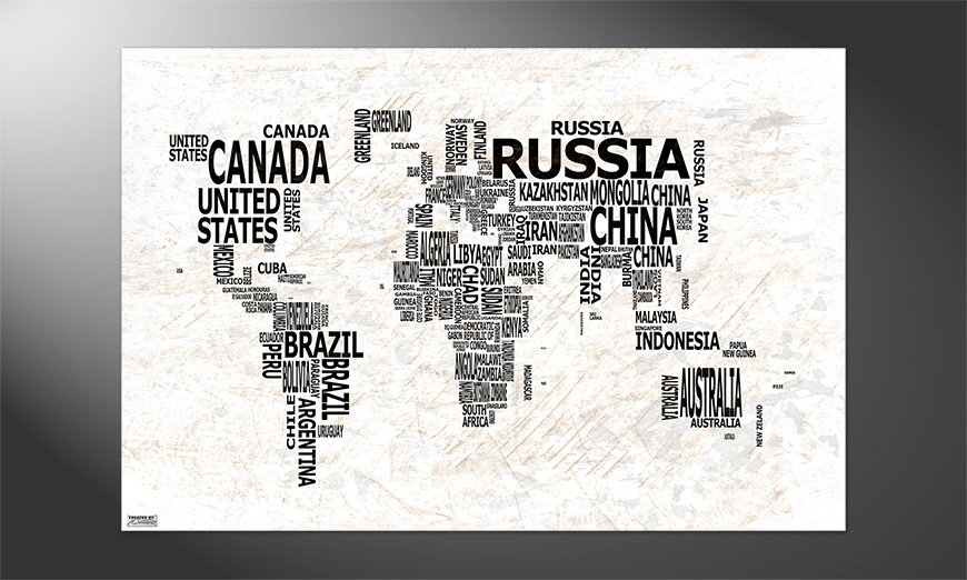 Unser Premium Poster Weltkarte Nr21