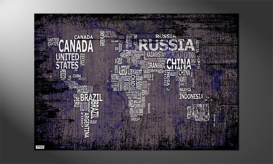 Unser schönes Premium Poster Weltkarte Nr9