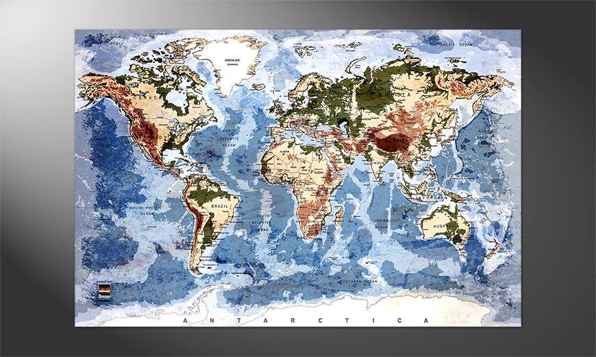 Weltkarte als Poster: Oldworldmap