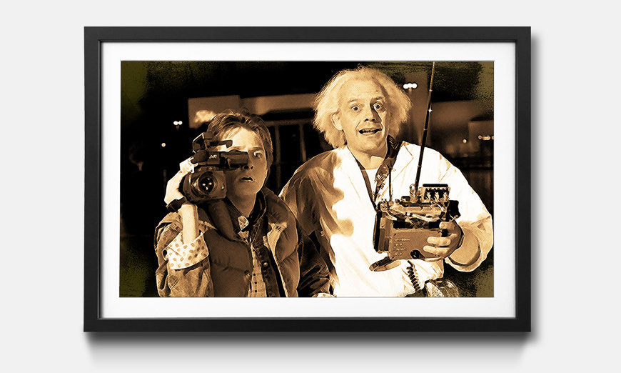 Bild gerahmt Back To The Future