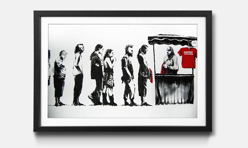 Bild gerahmt Banksy No.6