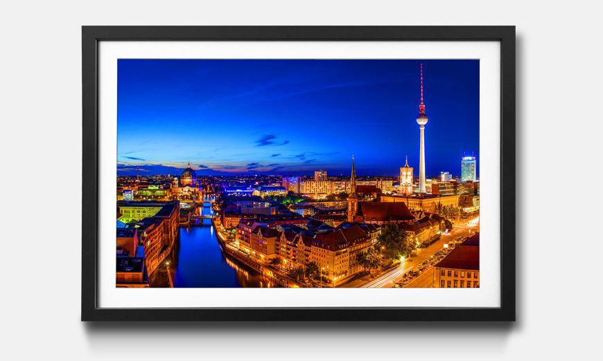 Bild gerahmt Berlin City