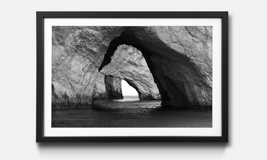 Bild gerahmt Blue Caves
