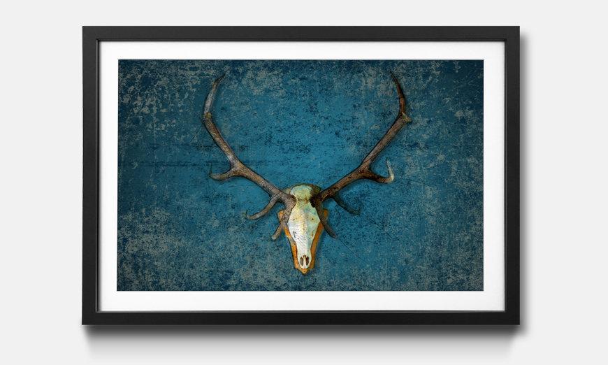 Bild gerahmt Deer Head