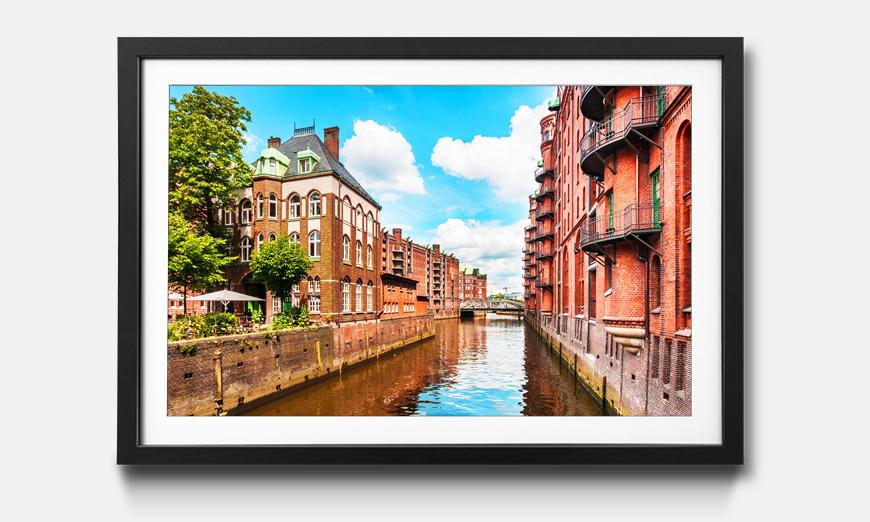 Bild gerahmt Hamburg Speicherstadt