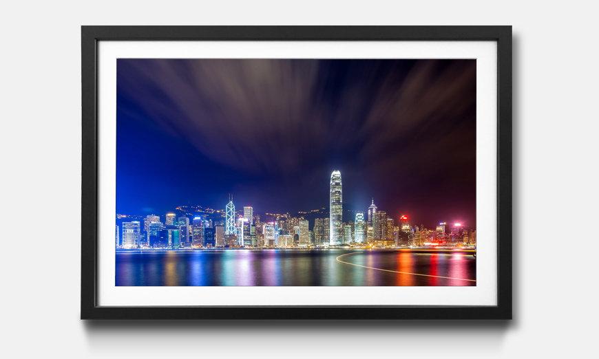 Bild gerahmt Hong Kong At Night
