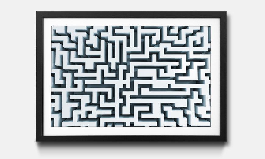 Bild gerahmt Labyrinth