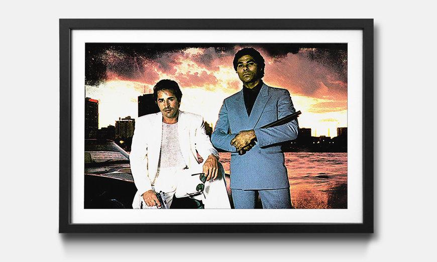Bild gerahmt Miami Vice