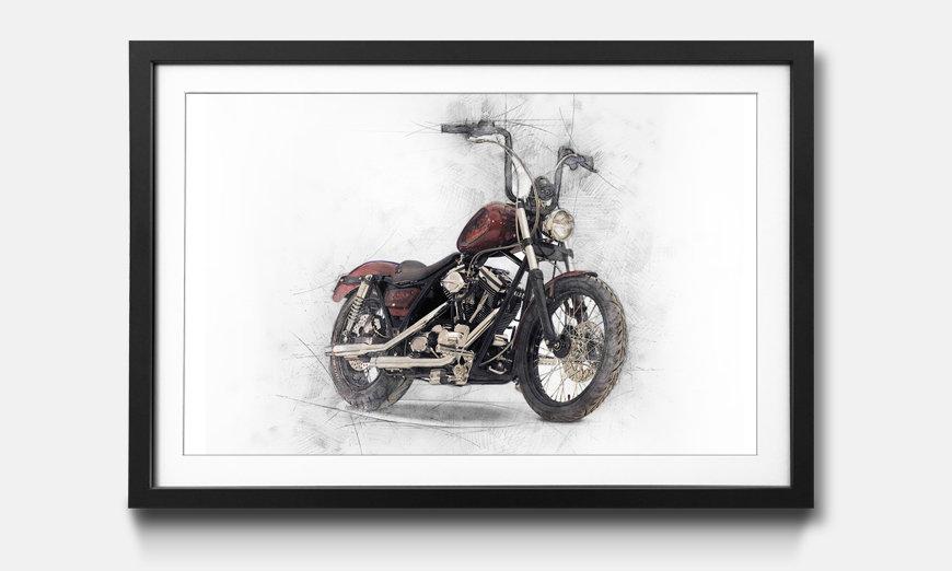 Bild gerahmt Motorbike