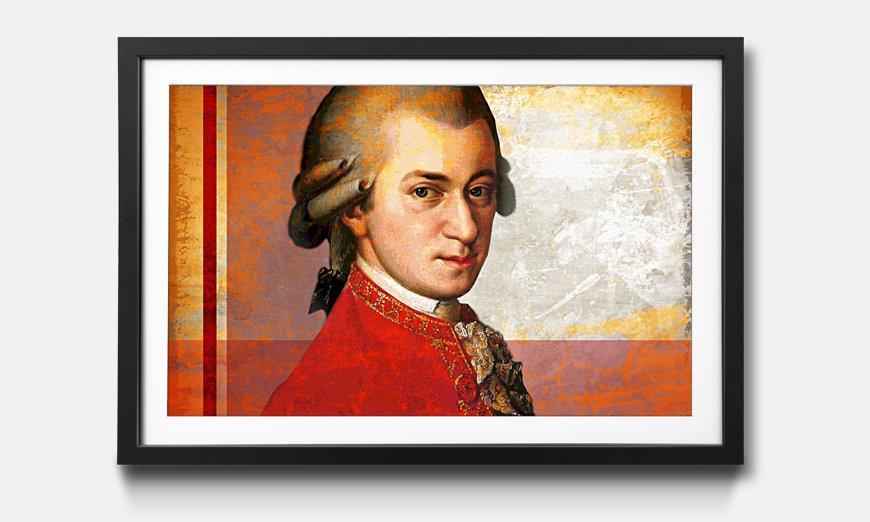 Bild gerahmt Mozart