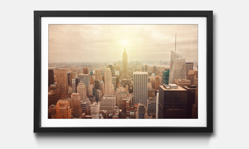 Bild gerahmt New York Retro
