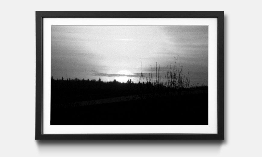 Bild gerahmt Sunset Sky