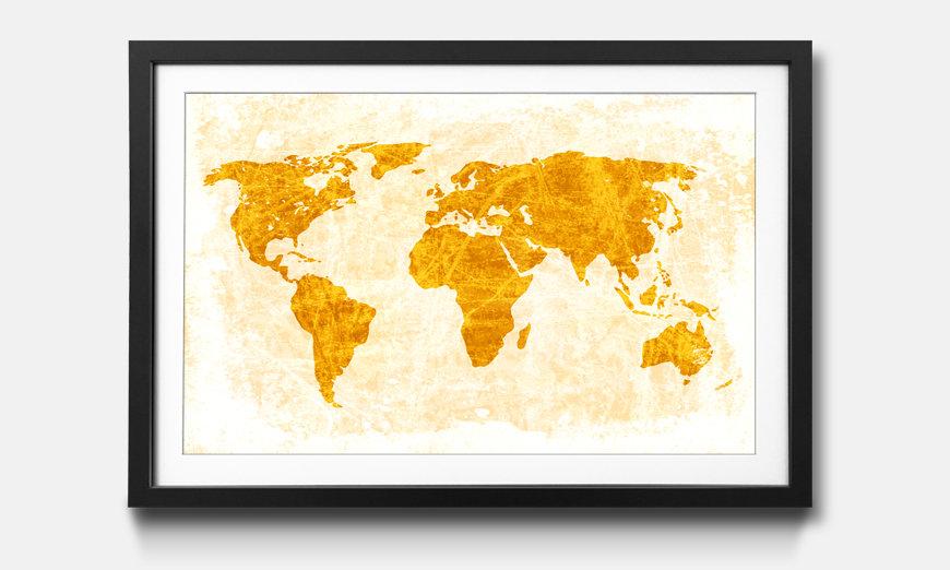 Bild gerahmt Worldmap No.7