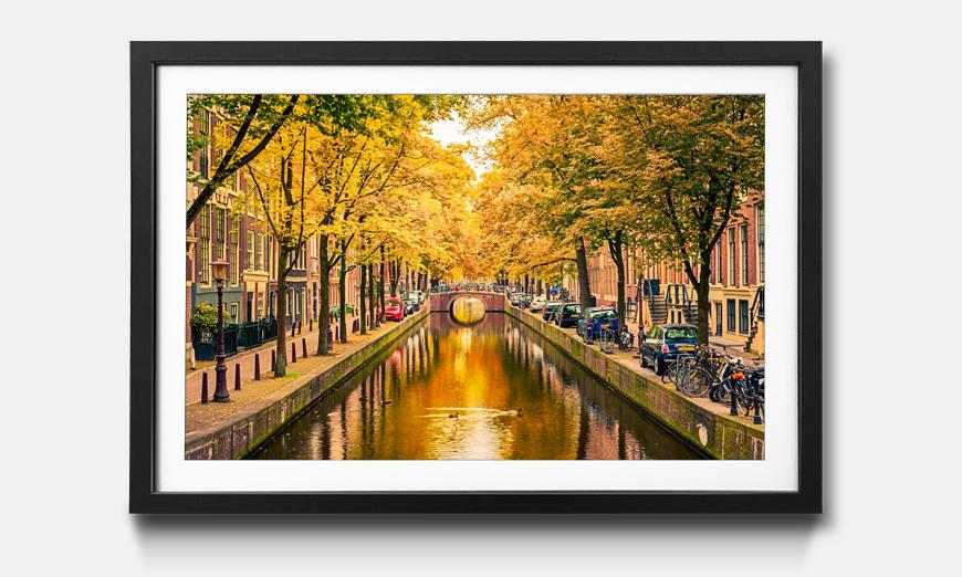 Das gerahmte Bild Autumn In Amsterdam