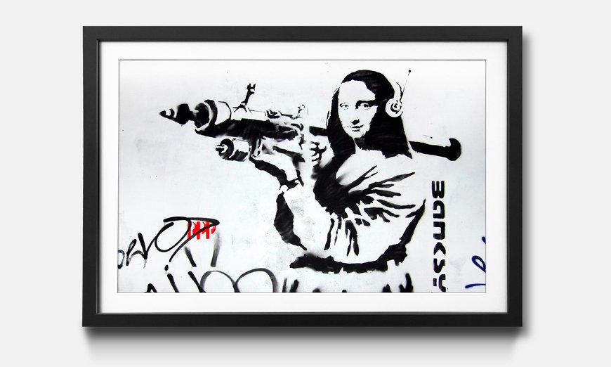 Das gerahmte Bild Banksy No.1