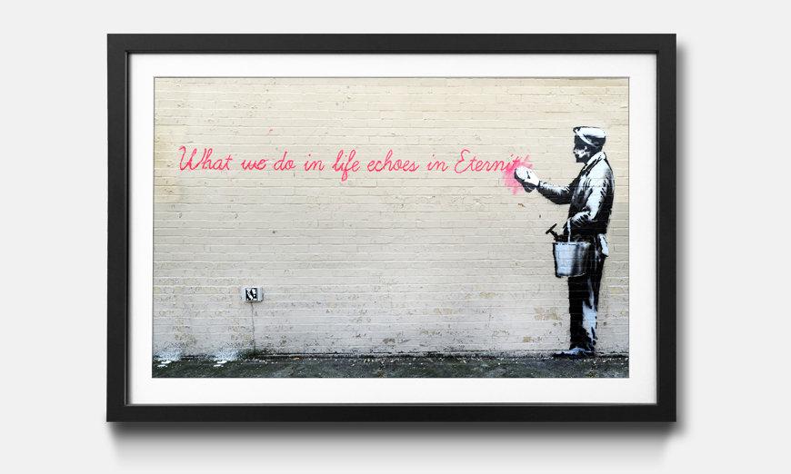 Das gerahmte Bild Banksy No.17