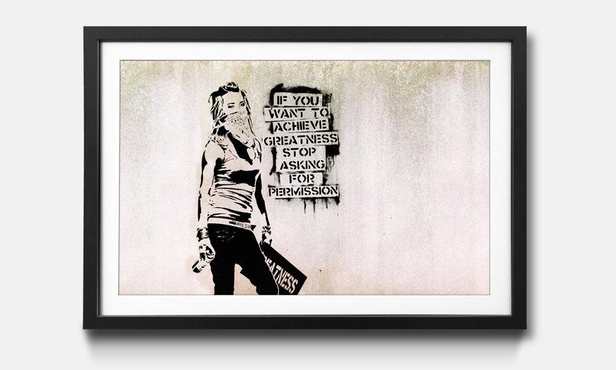 Das gerahmte Bild Banksy No.7