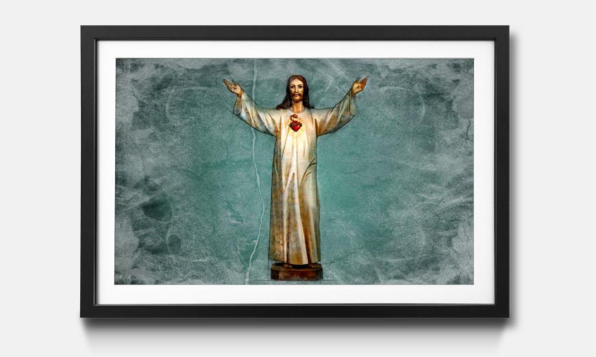 Das gerahmte Bild Blessing Jesus