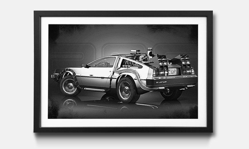 Das gerahmte Bild DeLorean