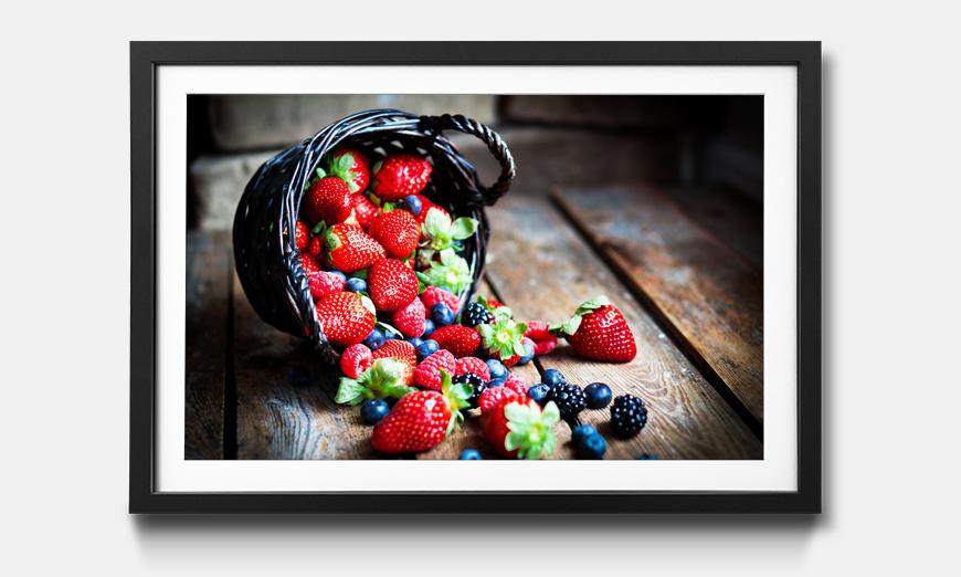 Das gerahmte Bild Favorite Berries
