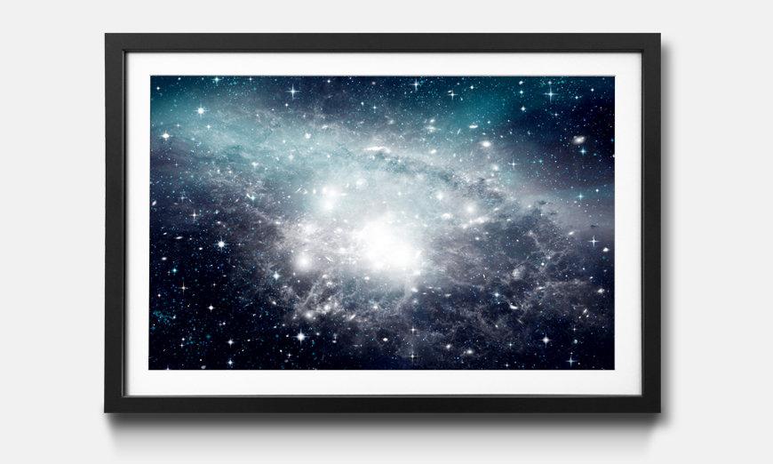 Das gerahmte Bild Galaxy