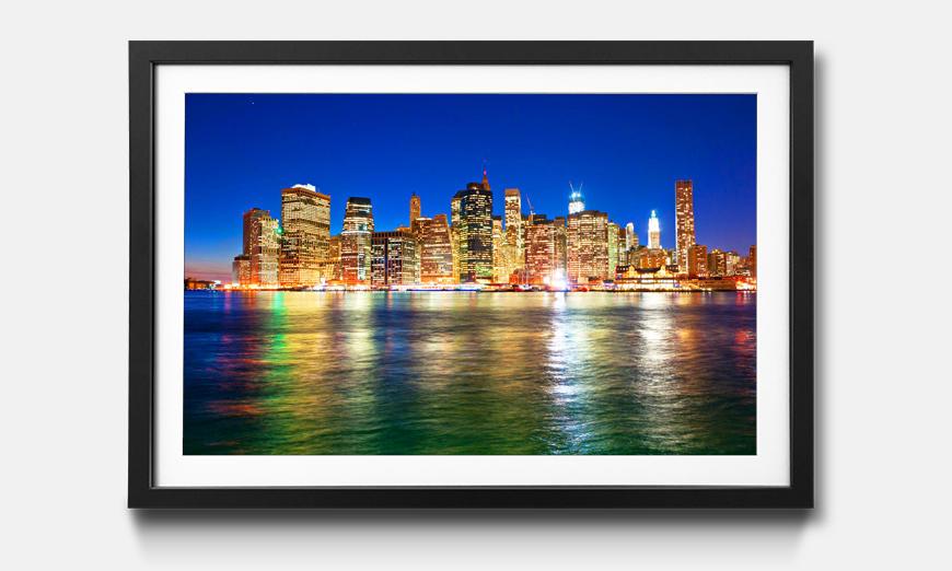 Das gerahmte Bild Manhattan Metropolis