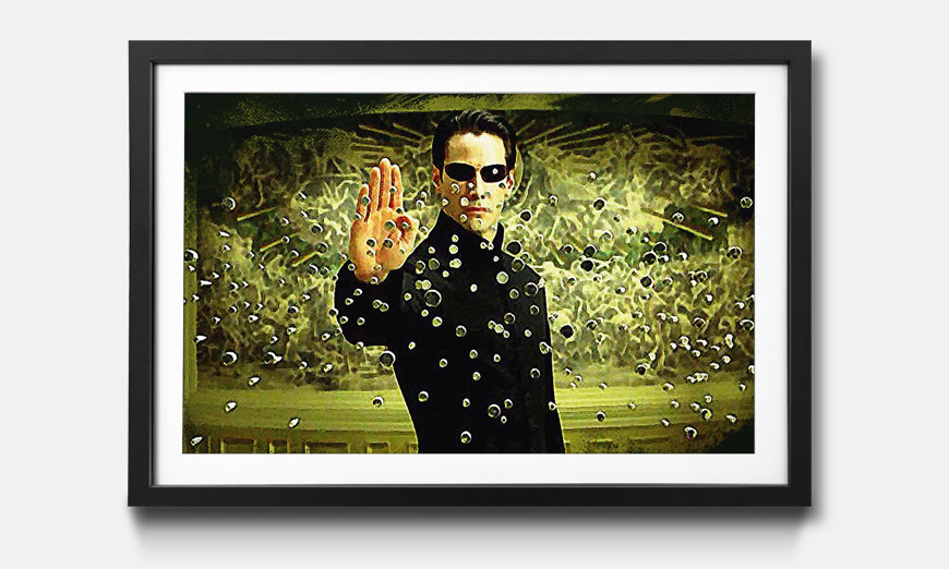 Das gerahmte Bild Matrix