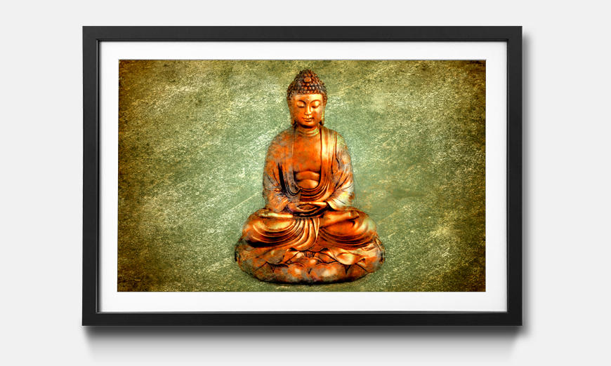 Das gerahmte Bild Meditation