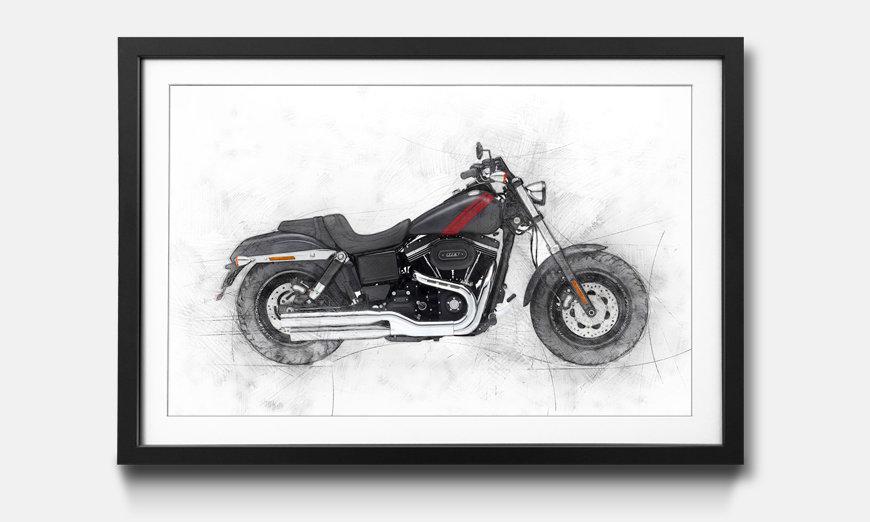 Das gerahmte Bild Motorbike uno