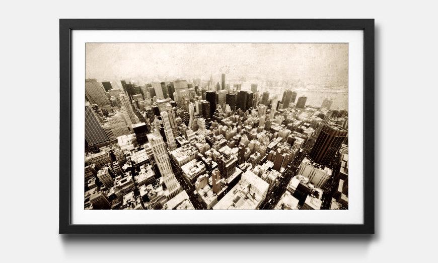 Das gerahmte Bild New York Vintage Retro