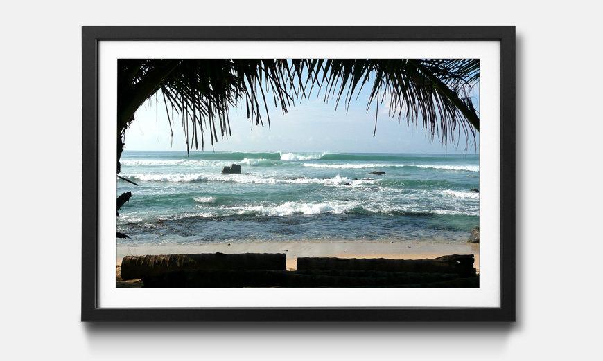Das gerahmte Bild Pacific Waves