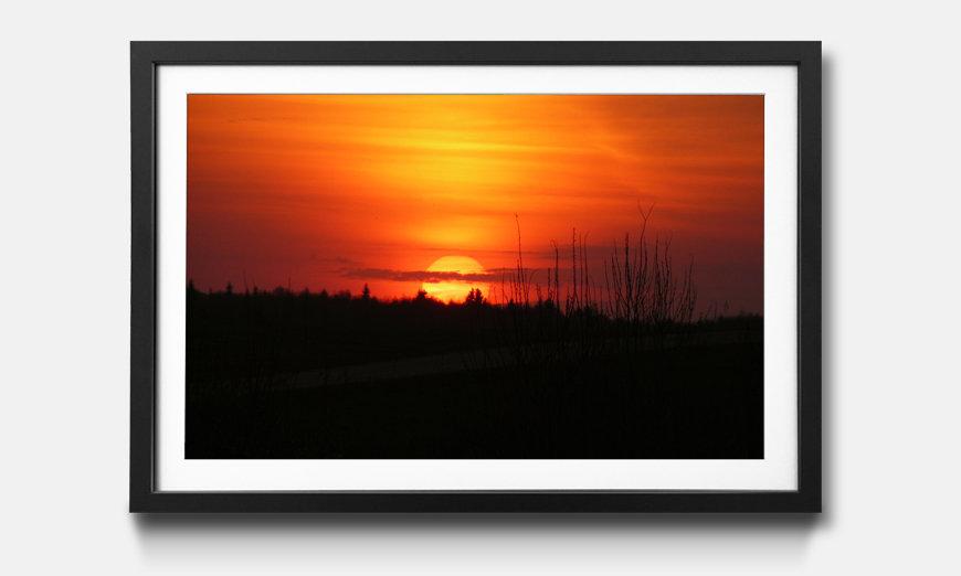 Das gerahmte Bild Sunset Sky