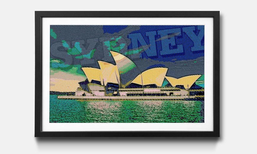Das gerahmte Bild Sydney