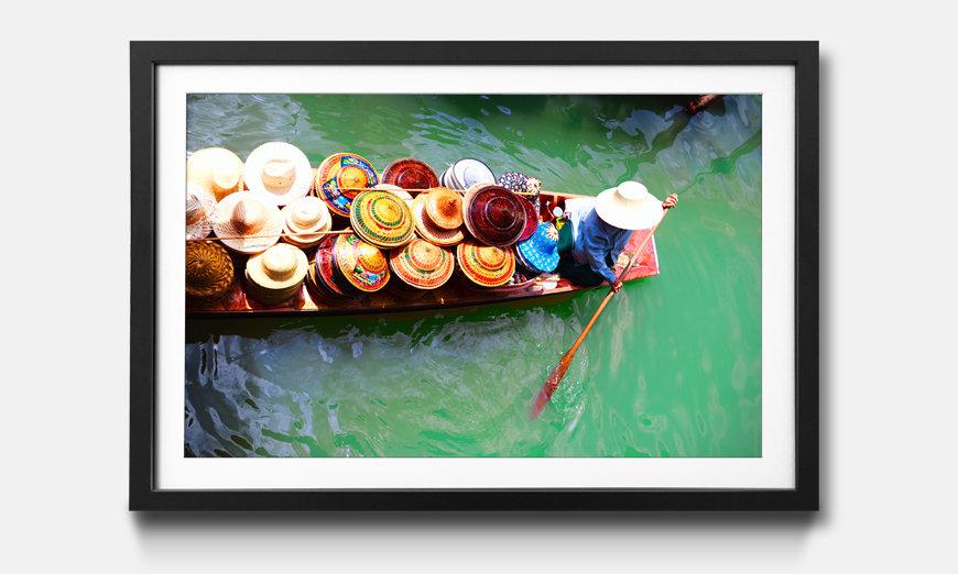 Das gerahmte Bild Thai Boat