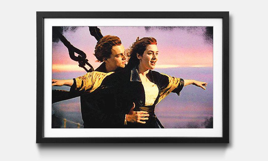 Das gerahmte Bild Titanic