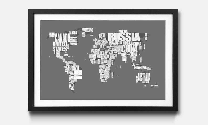 Das gerahmte Bild Worldmap No.11