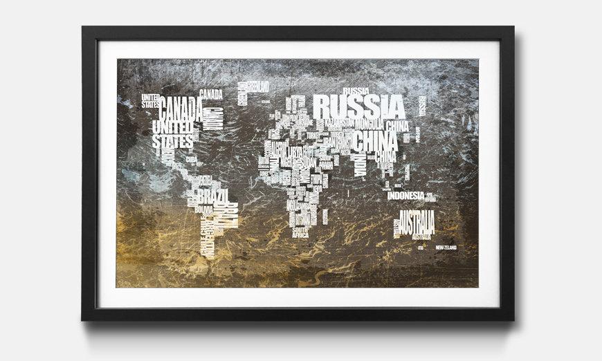 Das gerahmte Bild Worldmap No.20