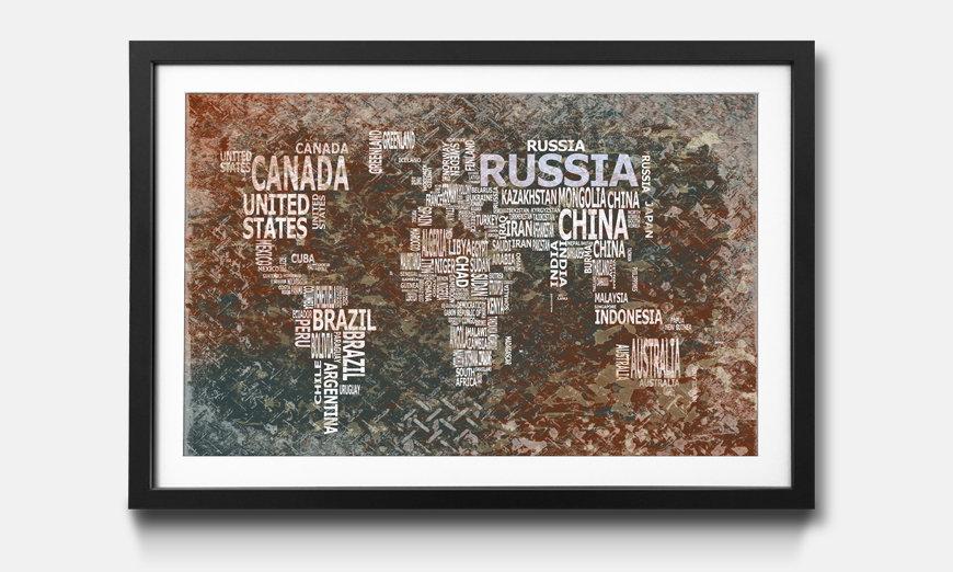 Das gerahmte Bild Worldmap No.8