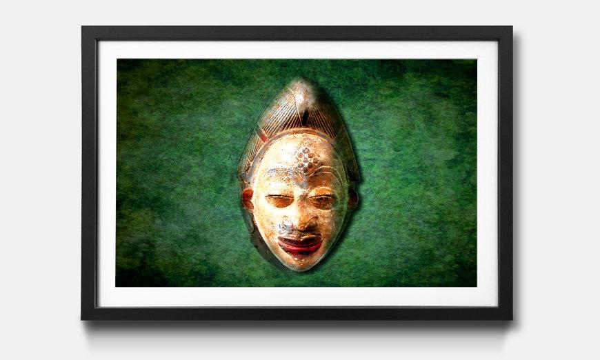 Das gerahmte Wandbild African Head