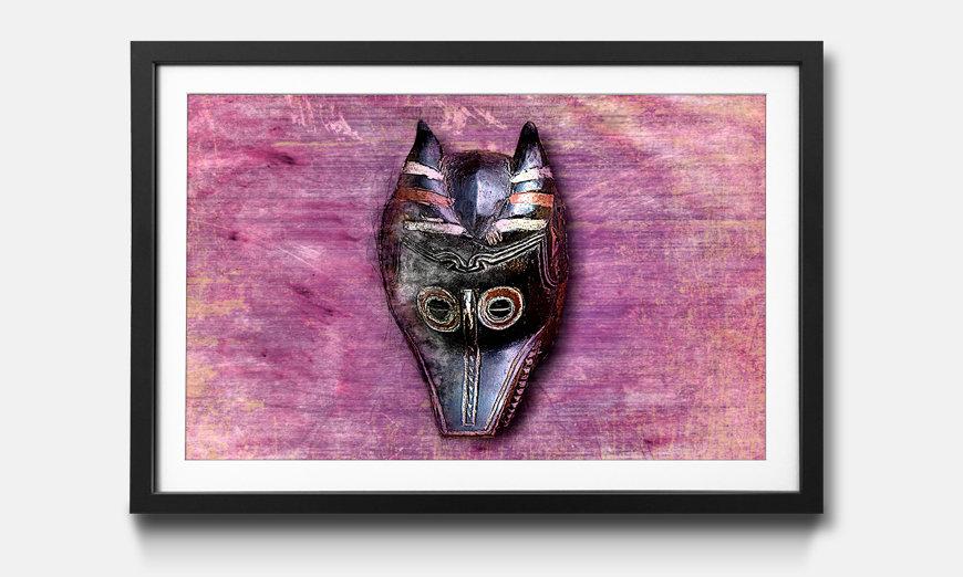 Das gerahmte Wandbild Afro Mask