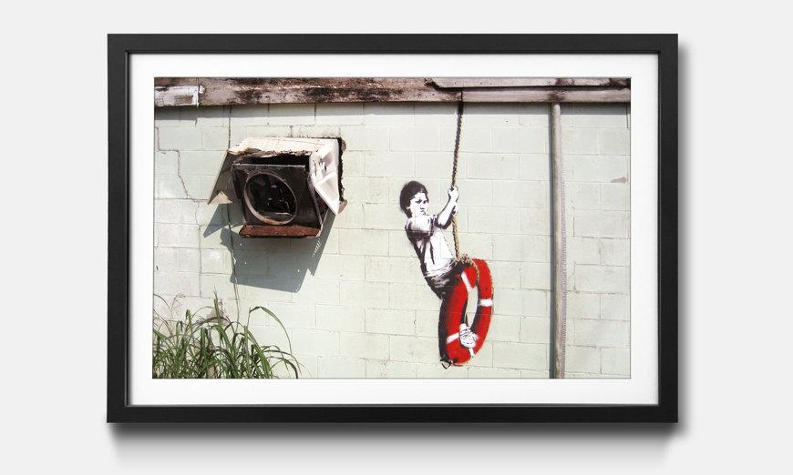 Das gerahmte Wandbild Banksy No.4