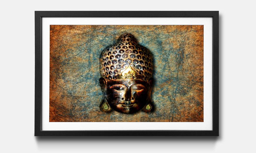 Das gerahmte Wandbild Buddah