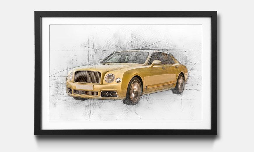Das gerahmte Wandbild Golden Bent