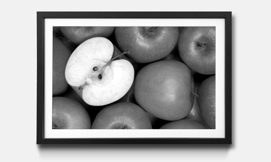 Das gerahmte Wandbild Green Apples