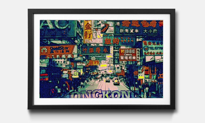 Das gerahmte Wandbild Hong Kong