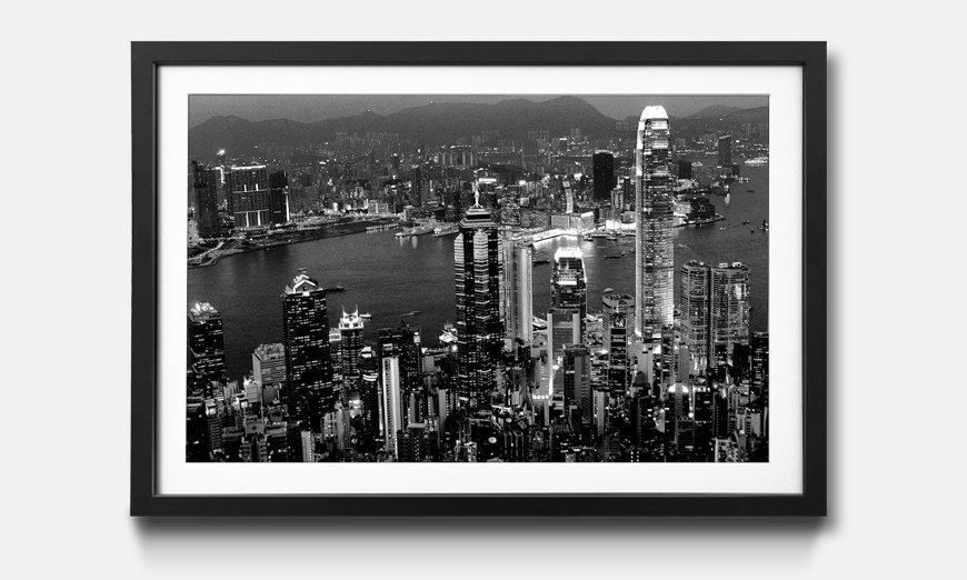 Das gerahmte Wandbild Hong Kong View