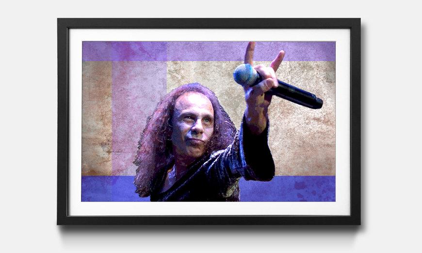 Das gerahmte Wandbild James Dio